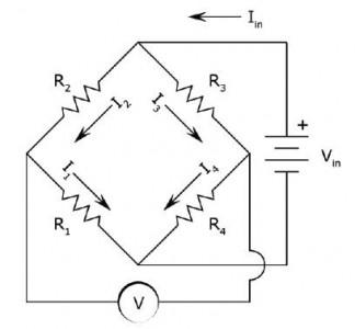 图4 惠斯通电桥原理图