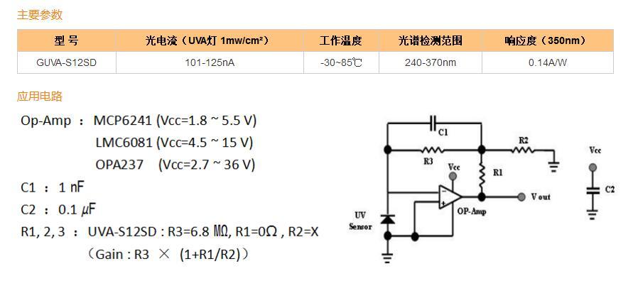 4,紫外发光二极管监测  (   360nm) 5,紫外线固化 1,芯片大小0.